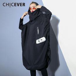 Chicever 2017 Langarm Schlank Gestreiften Frauen Blazer Lose Mantel Weibliche Beiläufige Kurze Beiläufige Plus Größe Kleidung Mode Koreanische Anzüge & Sets