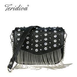 f13445dff1 Discount red rock bags - Punk Fashion 2019 Metal Tassel Handbags Lady Chain  Crossbody Bag Design