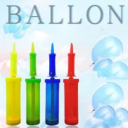 colori a palloncino Sconti Palloncino pompa di plastica tenuto in mano palla partito palloncino gonfiatore pompa d'aria portatile antiscivolo palloncino strumenti forniture di nozze 4 colori VT0252