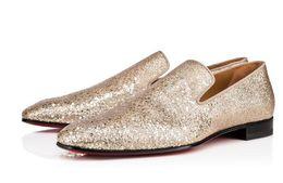 zapatos de vestir de los hombres de champán Rebajas Champagne Gold Bling Bling Glittery Men Shoes Zapatos formales Hombres Party Wedding shoe Zapatos de vestir hombres