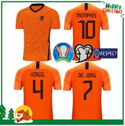 2020 bag gk 2020 Olanda camicia di calcio DE JONG Olanda DE Ligt van Dijk VIRGIL Uomo adulto e bambini kit di Strootman Divisa sconti bag gk