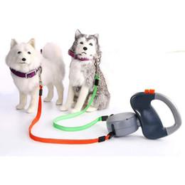 прогулка по продукту Скидка Gomaomi Dual Dog Выдвижной Прогулочный Поводок Pet Products Q190523
