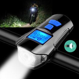 ordinateurs vtt Promotion NOUVEAU vélo phare avec ordinateur compteur kilométrique USB rechargeable vélo fort klaxon VTT vélo de route Multi-fuction lanternes
