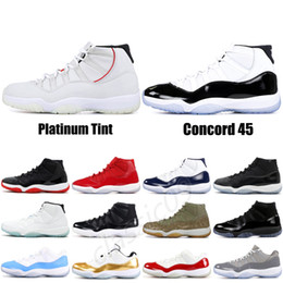 d24a6cefd6e5 Concord 11 XI Mens Basketball Shoes Platinum Tint High 11s Space Jam Black  White UNC Men Women Sneakers Designer Shoes US 5.5-13 nude women basketball  for ...