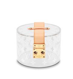 Bello disegno della scatola online-Scatola di design SCOTT 2019 nuova scatola decorativa trasparente super bella super carina GI0203 POCHETTE PORTAFOGLI SERA BORSA COMPATTA