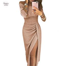 2020 ropa de diseñador damas Las mujeres 2015 vestidos largos de la manga del partido lápiz atractiva del vestido de la raya vertical del cuello para las mujeres más del Modelos Mujer ropa de mujer ropa de diseño ropa de diseñador damas baratos