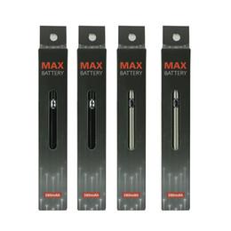 Recharge ecig en Ligne-Ecig 510 Max Pen Preheat Batterie VV Charge inférieure avec USB 380mAh Vape Pen Batterie pour M6T TH205 Amigo Liberty Cartouches d'huile épaisse