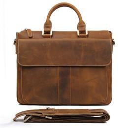 187928493b499 J.M.D 100% Echt Crazy Horse Leder Style Herren Braun Business Aktentasche  Klassische Handtasche Laptoptasche Durable Office Bag 7113B-2   258261  günstige ...