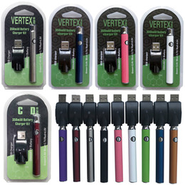 Atomiseurs pour cigarettes électroniques en Ligne-Nouveau Vertex 510 Thread Vape Batterie 350mAh Preheat VV Tension Variable Cigarettes Electroniques Préchauffage Vape Pen Batteries Atomiseur D'huile Épaisse