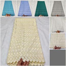 Dentelle de coton polonais en Ligne-coton de couleur blanche, dentelle, coton, guipure française, faric africain, dentelle, cordon, faric pour mariage