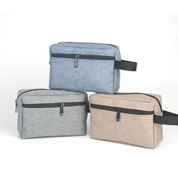 cosmetic wash bags wholesale Promo Codes - Waterproof Cosmetic Bag Hand Wash Oxford Cloth Traveler Accessories Package Mini Zipper Hand Make Up Bag Men Women Toiletry Bag