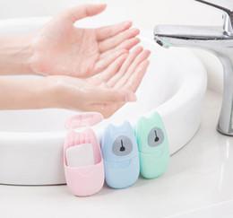 Bath body gift on-line-Mini Sabonete de Viagem portátil Lavar As Mãos Branqueamento Cuidados Com A Pele Banho de Saúde Do Corpo Presentes Bonitos Acces Abastecimento