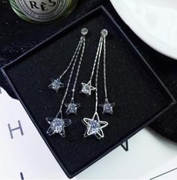 2019 boutique da estrela da forma New hot New multi-camada hipérbole retro boutique moda zircão brilhante estrela de cinco pontas borla brincos elegância chique clássico desconto boutique da estrela da forma