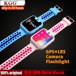 2019 tiempo de espera del teléfono S10 GPS LBS Niños Reloj inteligente Cámara impermeable Tarjeta SIM Niños SOS Localizador de localización de llamadas Localizador Rastreador Bebé Reloj GPS