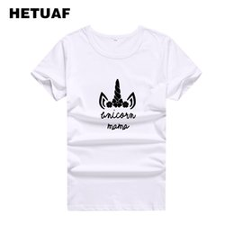de82a683114 Women s Tee Hetuaf 2019 Fashion Unicorn Mama Graphic Tees Women Printed  Funny Black White T Shirt Women Tops Hippie Tumblr Camisetas Mujer