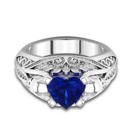 diana rings Promo Codes - 2018 Princess Diana William Kate Middleton's 3.2ct Created Blue Sapphire Engagement Ring for Women