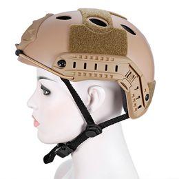 2019 casco del ejército del airsoft Casco táctico de caza liviano Airsoft Gear Crashworthy Head Protector Cascos para CS Paintball Juego Camping