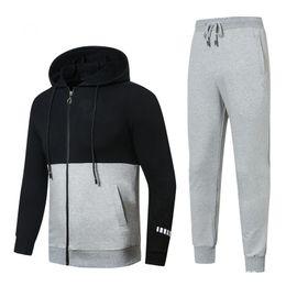 Calças jogging jersey on-line-Quente! 2019 Hoodies e Camisolas dos homens Novos Sportswear Homem Jaqueta calças Jogging Jogger Conjuntos de Gola Alta Sports Tracksuits Suor Ternos