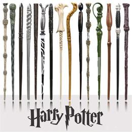 2019 mazos de cartas de bicicleta Varita mágica de Harry Potter Cosplay creativo 18 estilos Hogwarts Serie Harry Potter Nueva actualización Resina Varita mágica no luminosa para niños grandes Juguete