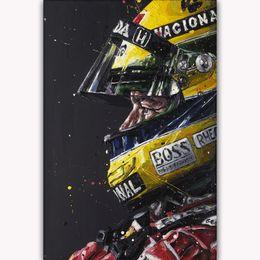 grande digital Desconto Hot New Ayrton Senna Fórmula F1 Grand Prix Art Silk Impressão Cartaz 24x36 polegada (60x90 cm) 015