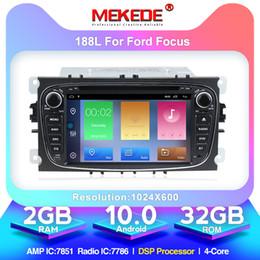 honda civic lettore mp3 Sconti 2 + Radio 32G Android10.0 auto di navigazione GPS per Focus S-max Kuga Mondeo con l'auto controllo del volante DSP DVD auto WIFI Bluetooth del dvd