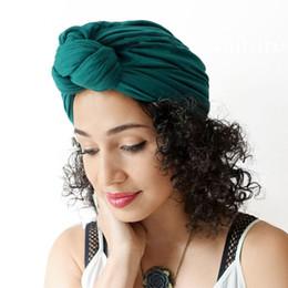 Argentina Sombreros de mujer musulmán Heap Cap Algodón Bouquet Quimioterapia Señoras suave Cloche Cap Turbante Sombrero Mujer Cáncer Gorros Suministro