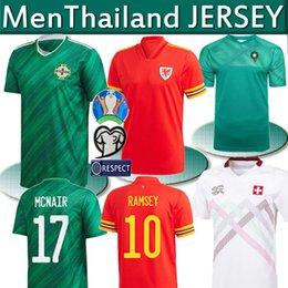 2020 camisas de gales Tailândia mais novos 2,020 Irlanda do Norte Futebol 2020 2021 País de Gales Suíça Europeia Marrocos jerseys Homens camisas de futebol de casa de distância camisas de gales barato