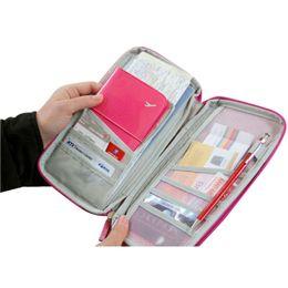 Корейский владелец паспорта онлайн-Корейский стиль мода паспорт кошелек Travelus полиэстер многофункциональный пакет ID держатель дорожная сумка для домашнего хранения