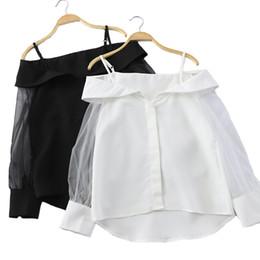 Koreanische blusen für frauen online-2019 Frauen Gestreifte Verstärkte Große Blusen Lockern Tops Mode Langarm Damen Blusen Und Tops Koreanische Frauen