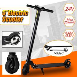 """Scooter électrique plié en Ligne-24V 5 """"Hoverboard Deux Roues Électrique Scooter Patinete En Alliage D'aluminium Adulte MINI Portable Pliable Équilibrage Pliant Scooter Skateboard"""