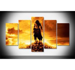 fantasie landschaft ölgemälde Rabatt Conan der Barbar, 5 Stück Home Decor HD gedruckt moderne Kunst Malerei auf Leinwand / ungerahmt / gerahmt