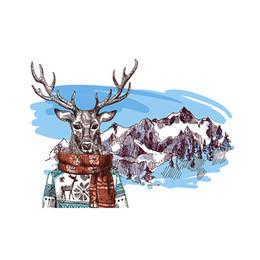 Tapices de lona online-Alces nórdicos tapicería decorativa mural colgar en casa fondo pared dormitorio dormitorio bar comedor recepción tabique lienzo