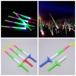 2019 espadas conduzidas Vara do fulgor LED coloridas Rods Led piscando Espada Luz festa consoladora Disco Light vara Concerto de Música elogio LED Light Sticks ZZA1319 300pcs desconto espadas conduzidas