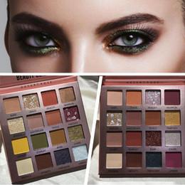 Sombras brillantes maquillaje de ojos online-Beauty Glazed 16 Color Makeup Paleta de sombras de ojos Nude Matte Pearly Shiny Waterproof Glitter Pigment Smoky Eye Shadow Pallete
