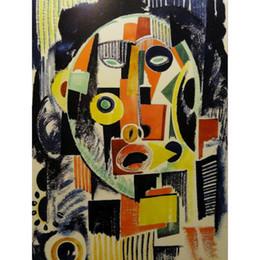 Art coloré peintures à l'huile abstraite moderne Souza Cardoso rouge océan bleu à la main ? partir de fabricateur