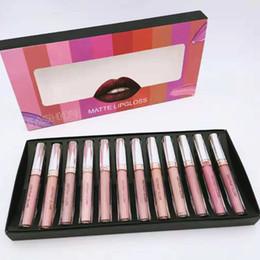 Новые релизы макияжа онлайн-2020 Новые Выпущенные 12 цветов Мода Матовый Lipgloss Kit Макияж Помада // Марка не имеют этого Stylebuy с осторожностью //