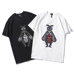 19SS hombres diseñador de los hombres camisetas de moda Bee imagen de punto de impresión camisetas para hombre Carta verano camiseta de algodón de manga corta nueva caliente desde fabricantes