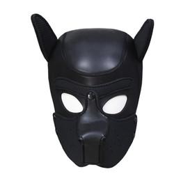 Canada Produits sexuels pour hommes et femmes Articles sexuels pour adultes Accessoires de spectacle de scène Nouvelle éponge en caoutchouc noir pour ajuster la protection de la tête de chien Offre