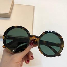2019 популярные очки 0166 Популярная мода Для женщин Солнцезащитные очки Полужесткие Ретро круглые очки модный показ очки специально разработанные UV400 защиты с коробкой дешево популярные очки