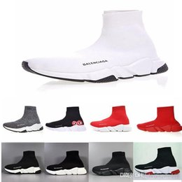 Balenciaga 2020 ACE Designer beiläufige Socke Schuhe Speed Trainer Schwarz Rot Triple Black Fashion Socken Sneaker Trainer Freizeitschuhe 5-11 von Fabrikanten