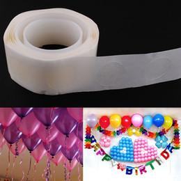 2 rolle 200 punkte 10mm doppelseitige klebstoff ballon aufkleber anbringung ballon kleber party hochzeit dekoration von Fabrikanten