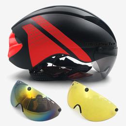 tt helmets Coupons - ultralight helmet bike Cycling helmet road MTB mountain integral triathlon bike helmet men race bicycle With glasses TT