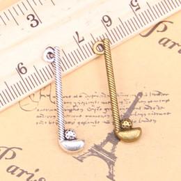 2020 golf antico 20pcs incanta il golf club palla 32x8mm Antique ciondoli, gioielli d'argento tibetano, fai da te per la collana braccialetto sconti golf antico
