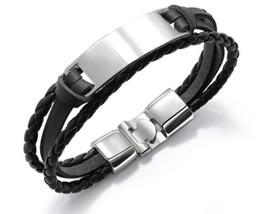 i migliori modelli in oro dei braccialetti Sconti uomini designer di gioielli di lusso bracciali migliori braccialetti dell'oro progetta mano tessere cinturino in pelle 6 colori gioielli accessori moda