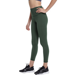 see leggings Promo Codes - Women Non See-Through Highly-Elast Yoga Pants Athletic Pants Workout Running Leggings Tummy Control Tight Leggings With Pocket