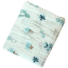 cobertor de swaddle simples Desconto Algodão musselina Swaddle Cobertores respirável bebê cobertores para Blanket Nursery multi uso bebé Swaddling envoltório para 110 * 110 centímetros