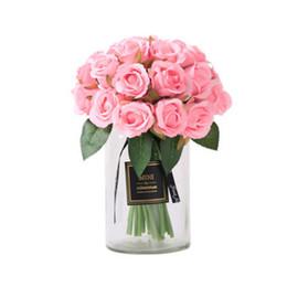 Deutschland Dekorative künstliche Rose Blumen Real Touch Seidentuch Gefälschte Blumen Perfekte Startseite Hochzeitsfest Bankett Dekoration Versorgung