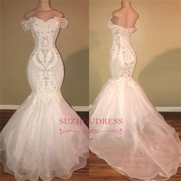 2019 images réelles Sexy White Mermaid Prom robes longue épaule paillettes plage pas cher robe de soirée dos nu, plus la taille sur mesure BC1326 ? partir de fabricateur