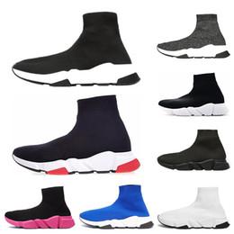 Balenciaga designer uomo donna Speed Trainer Luxury Brand Sock Shoes nero bianco rosso glitter Flat fashion mens Scarpe da ginnastica Runner taglia 36-45 da vernice libellula fornitori
