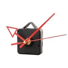 mãos do movimento do relógio de quartzo Desconto Mecanismo de movimento de quartzo relógio silencioso seta vermelha mão diy parte reparação kit conjunto